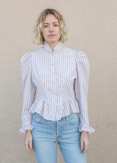 Batsheva Grace Blouse - Brown Stripe