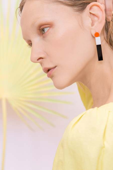 MATTER MATTERS York Drop Earrings - Orange