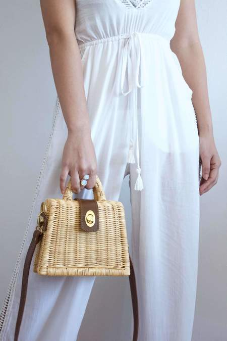 Beachgold Bali Gigi top handle - rattan
