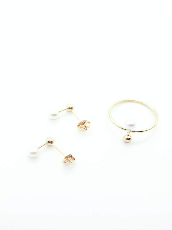 n+a new york Jeju Aga earrings - 14K gold