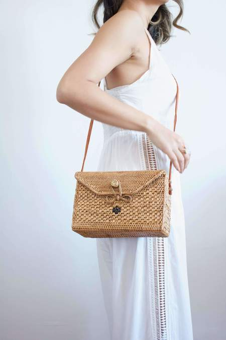 Beachgold Bali Nicole crossbody bag - Natural