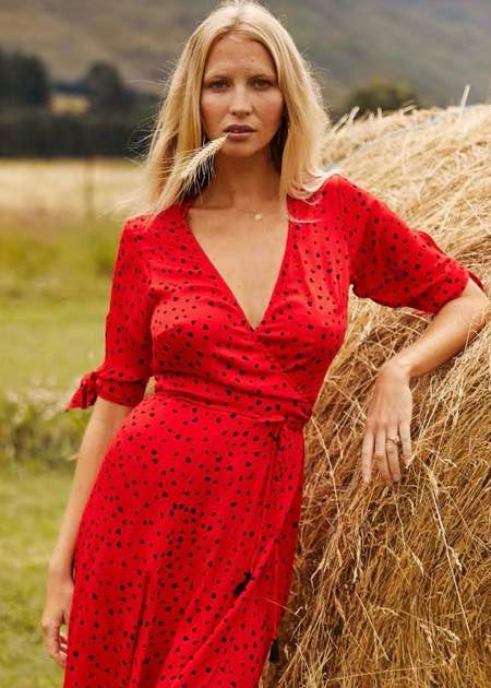 Beachgold Bali Tia wrap dress - Red