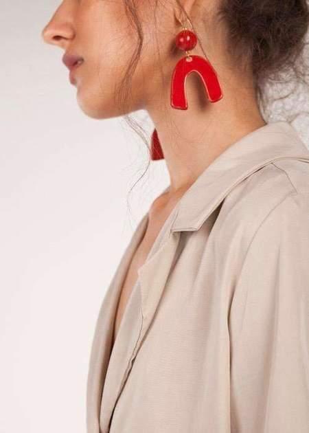 Pedrusco Trinidad earrings - Red