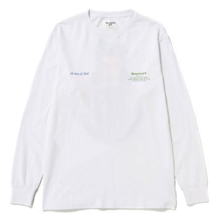 Reception S.C. Chez Za Longsleeve T-shirt- White