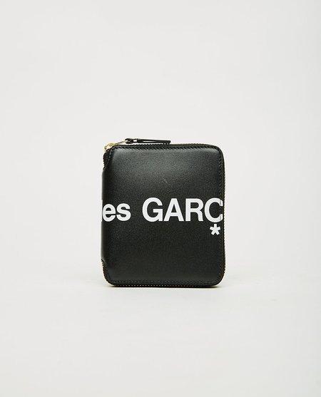 Comme des Garçons Huge Logo Zip Wallet - Black