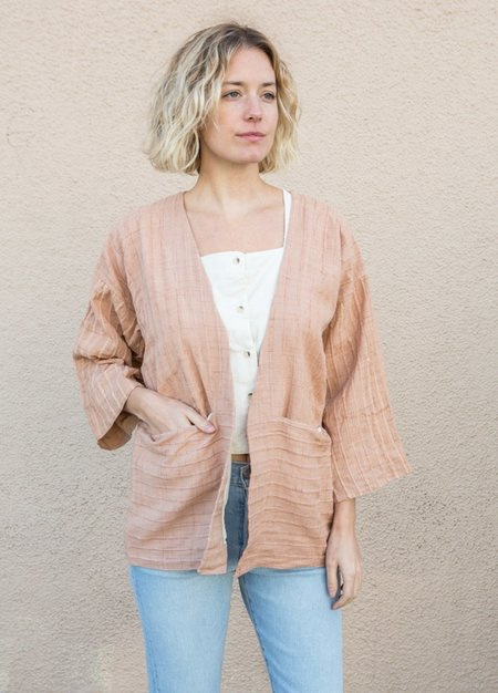 Tonle Handwoven 3/4 sleeve Jacket - Palm