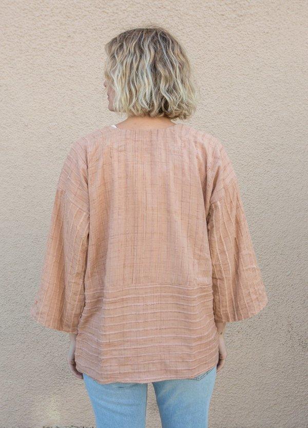 Tonle Handwoven 3/4 sleeve Jacket - Palm