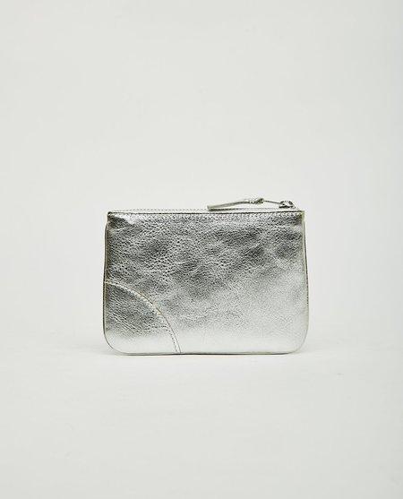 Comme des Garçons Top Zip Pouch Wallet - Silver