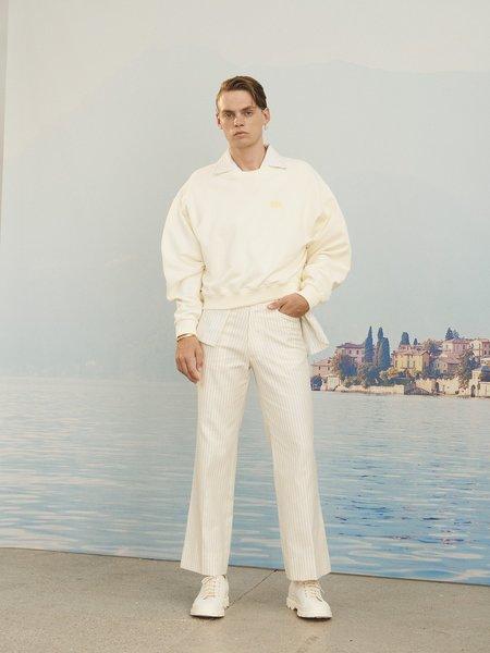 MARTIN ASBJORN Dickie Shirt - White Pinstripe