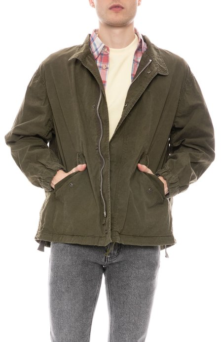 Sage de Cret Cotton Field Jacket - Green Khaki