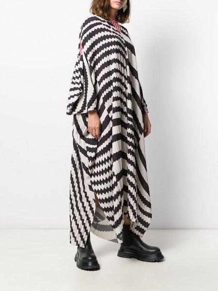 Henrik Vibskov Pleated Jelly Dress - Black/White