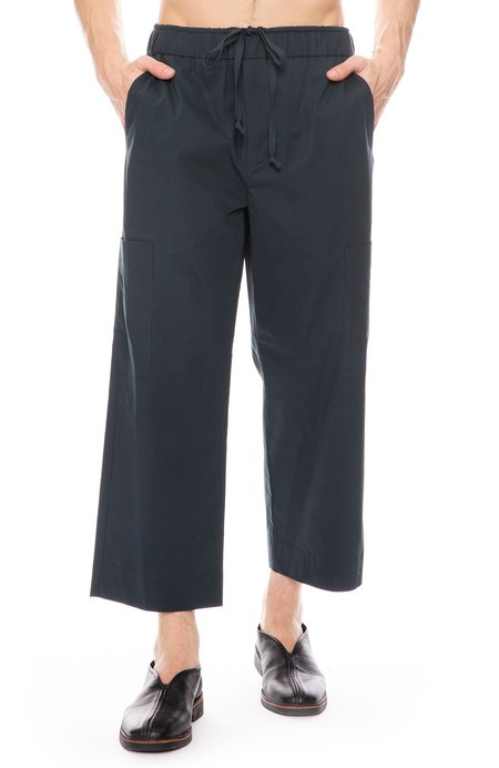 3.1 Phillip Lim Washed Poplin Cropped Pant - MARINE