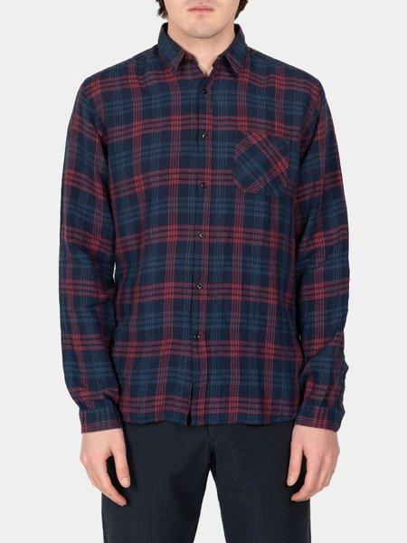 Oliver Spencer New York Special Shirt - Fairhurst Indigo Red
