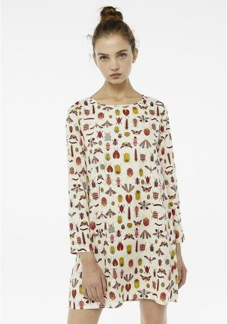 Compañia Fantastica Shift Dress - Insect Print