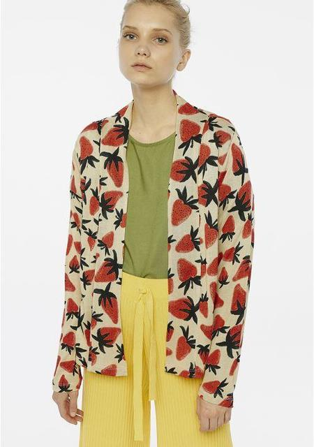 Compañia Fantastica Cardigan - Strawberry Print