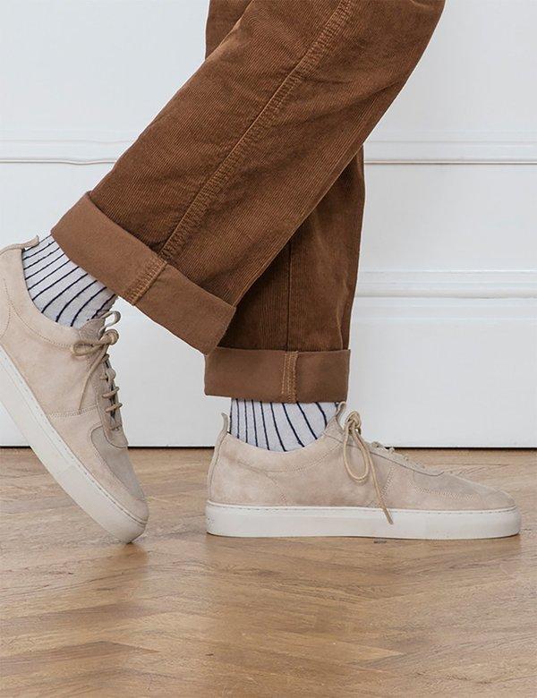 Grenson Suede 22 Sneaker - Stone