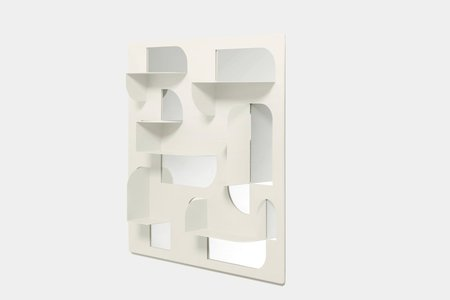 Bend Mirror with Shelves