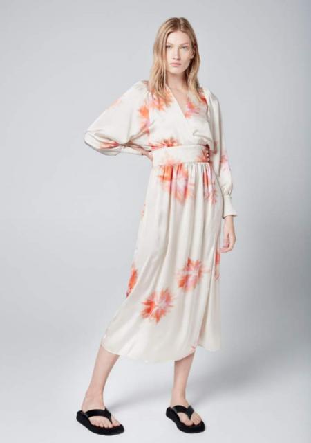 Smythe  Wrap Dress - Tie Dye