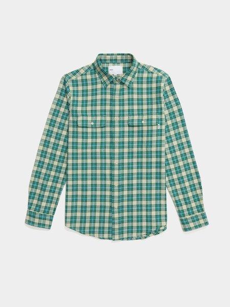 Adsum Workshirt - Oatmeal Plaid Evergreen