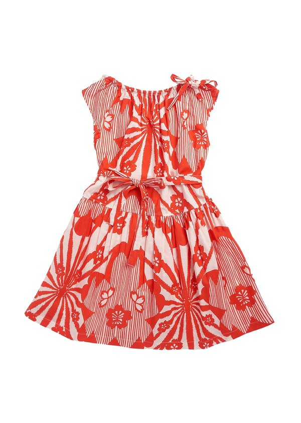 kids Caramel Notting Hill Dress - Red Flower Print