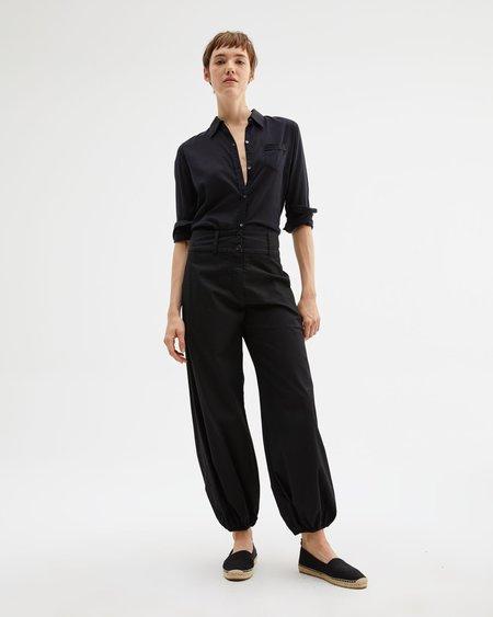 Nili Lotan Cotton Voile NL Shirt - Black