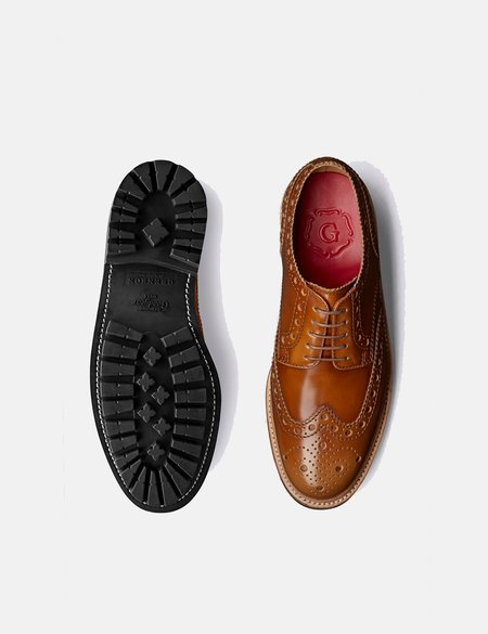 Grenson Archie Brogue Shoes - Amber