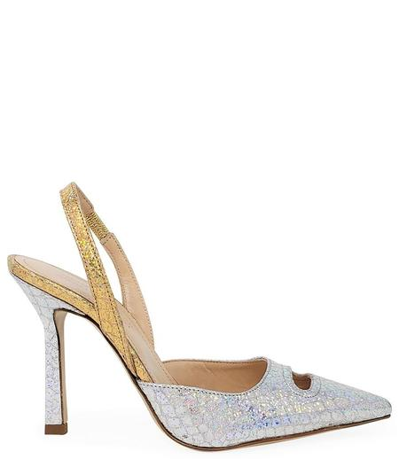 Madison Maison by Giampaolo Viozzi Mid Heel Pump - Gold/Silver