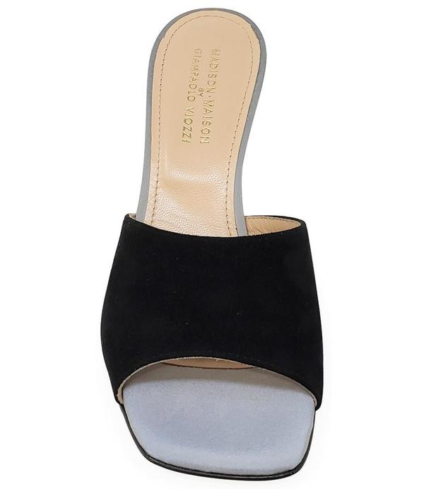 Madison Maison by Giampaolo Viozzi Mid Heel Sandal - Black/Grey