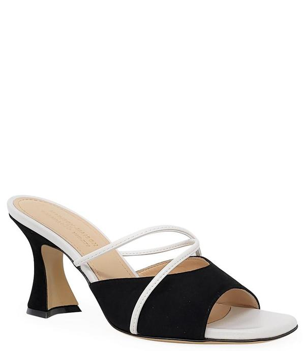 Madison Maison by Giampaolo Viozzi Mid Heel Sandal - Black/White