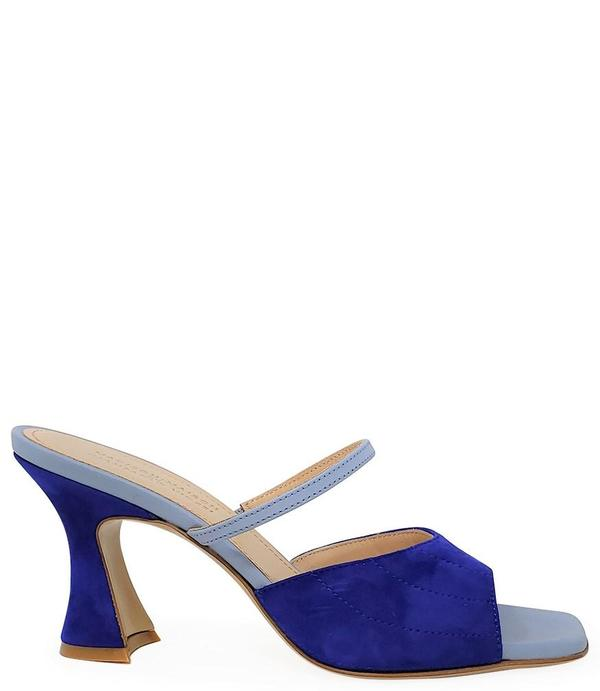 Madison Maison by Giampaolo Viozzi Mid Heel Sandal - Navy/Skyblue