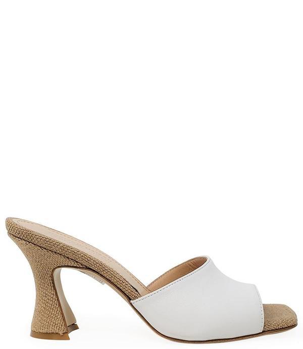 Madison Maison by Giampaolo Viozzi Mid Heel Sandal - Tan/White