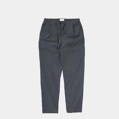 Still By Hand Slim Tapered Pants- Charcoal