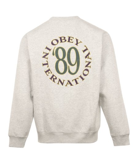 Obey 89 Int Crewneck Sweater - Grey