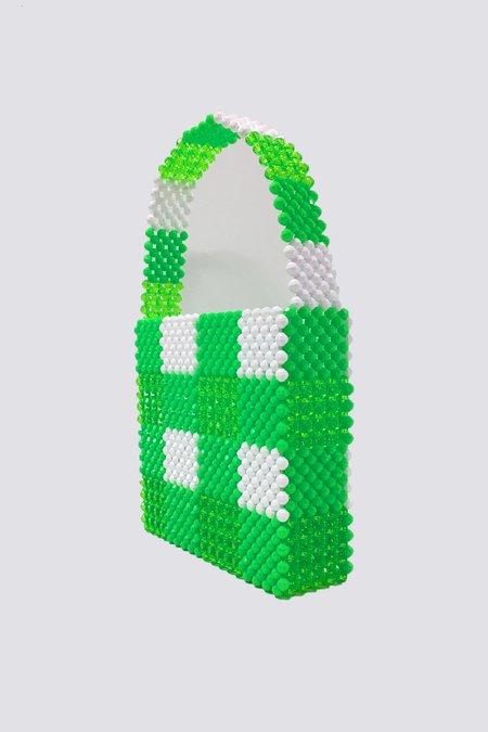 Susan Alexandra Beaded Cottage Bag - Green