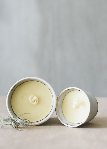 Notary Ceramics - Beeswax Candle in Small or Large
