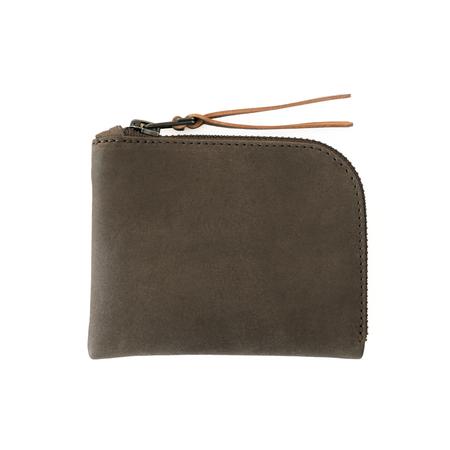 MAKR Zip Luxe Wallet - Charcoal Horween