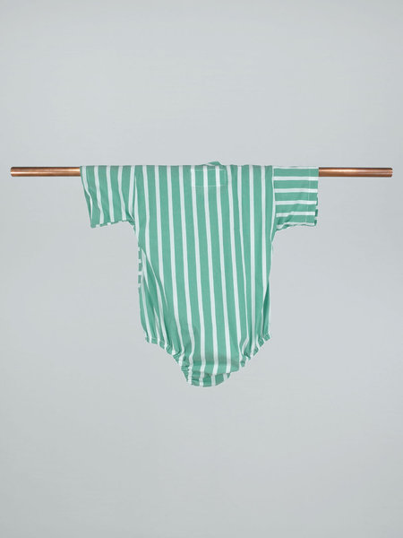 KIBORO Think outside the stripes kimono - Green
