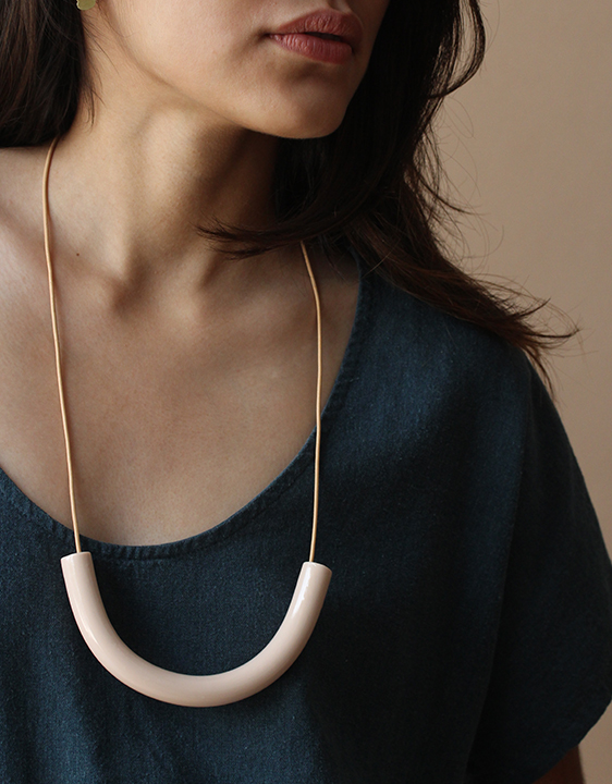 Surface Handmade Nude Cylinder Necklace