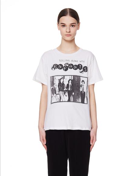 Enfants Riches Deprimes Cotton Printed T Shirt - white