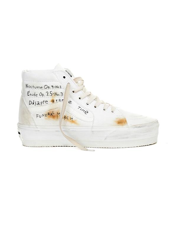 Enfants Riches Deprimes White Canvas Sneakers ERD x Vans