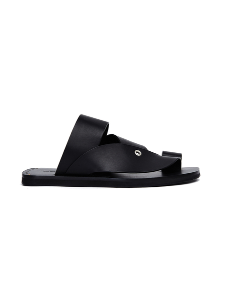 Jil Sander Black Leather Sandals