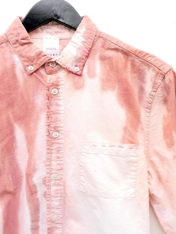 Audrey Louise Reynolds Organic Cotton Oxford Button Down Shirt - Red Fade
