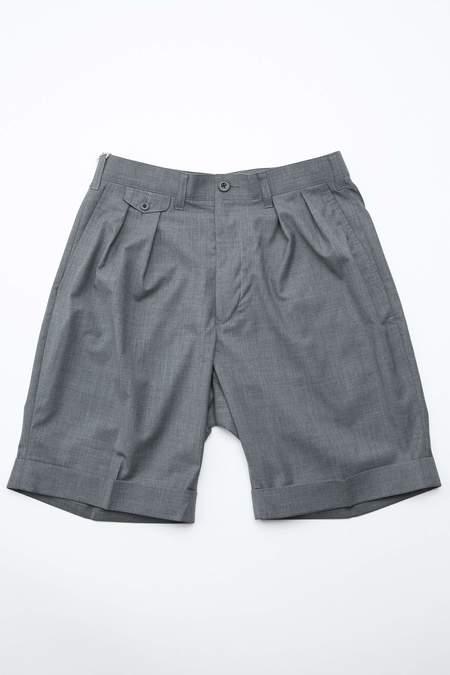 Beams Plus 2Pleats Wool Tropical Short Pants - GREY