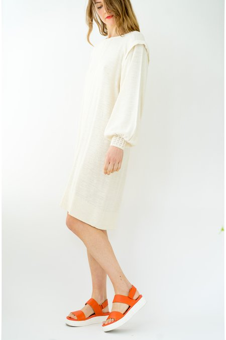 Vintage Backtalk PDX Knit Dress - cream