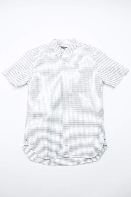 Beams Plus Short Sleeve B.D. Oxford Tattersall - SAX/CHARCOAL