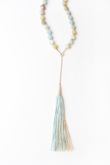 Iwona Ludyga Design Desert Tassel Necklace - Amazonite