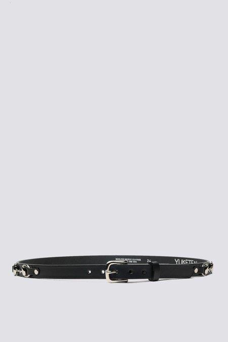 YUKETEN Leather Plain Bit Belt