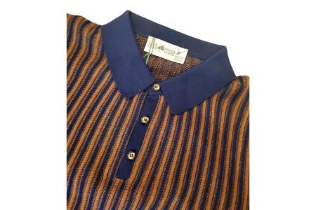 Irish Crone Knit Polo With Trim Collar