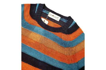 Irish Crone Striped Color Block Crew