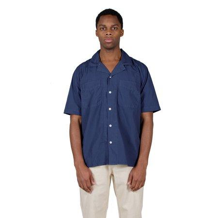 Albam SS Revere Collar Shirt - Navy